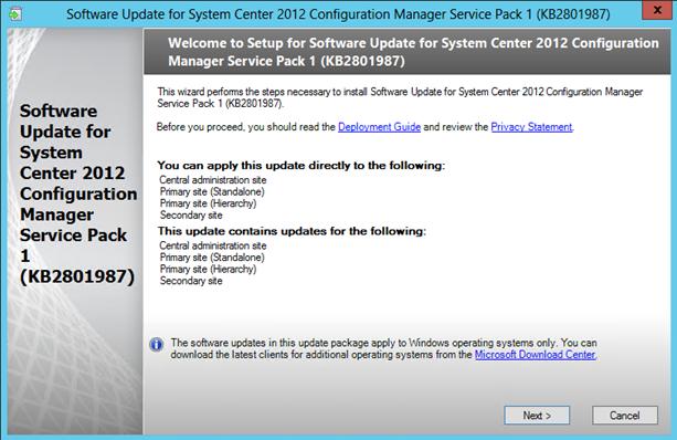 Configuration Manager 2012 SP1 Client Installation error